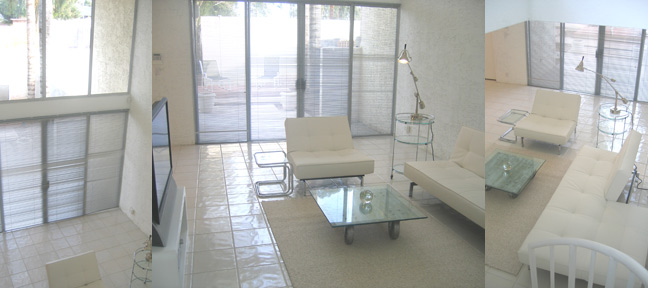 In The Living Room, You Will Be Dazzled By Modern White Leather And Chrome Living  Room Furniture With Glass/chrome Tables. Sit Back And Enjoy A 44 Inch HD ...